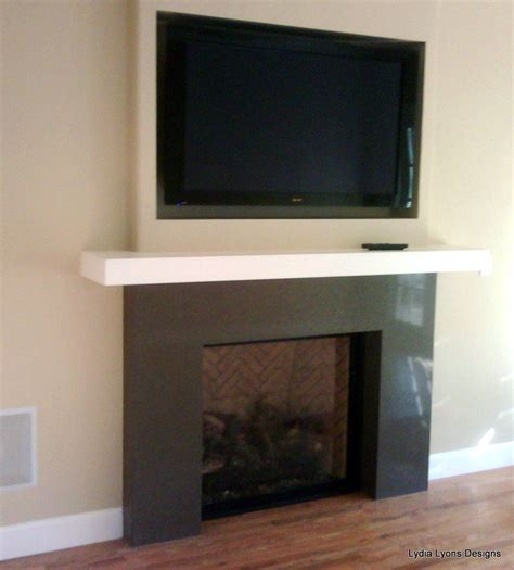 recessed tv  fireplace basement renovation tv