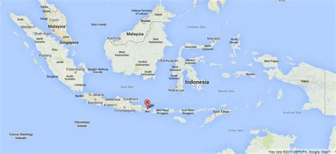 bali  map  indonesia