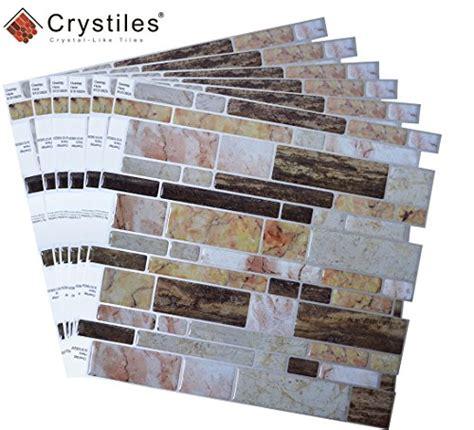 crystiles peel  stick  adhesive backsplash tile