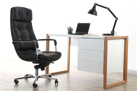 Bureau Cuir - fauteuil de bureau cuir noir adagio cuir de buffle miliboo