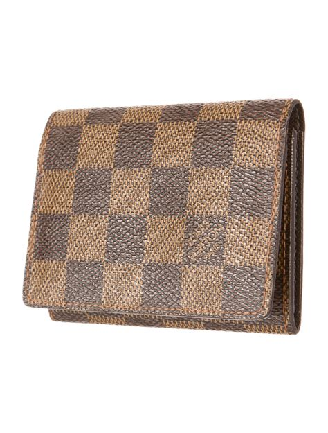 Louis vuitton classic business card holder in. Louis Vuitton Damier Card Holder - Accessories - LOU48366   The RealReal