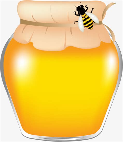 honey jar honeybee honey cartoon png transparent image  clipart