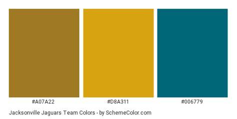 jaguar colors jacksonville jaguars team color scheme 187 brand and logo