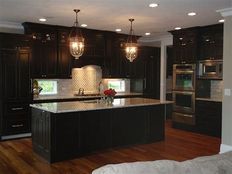 Kitchen Floor Ideas With Black Cabinets by Wood Floor With Cabinets Floors Kitchen