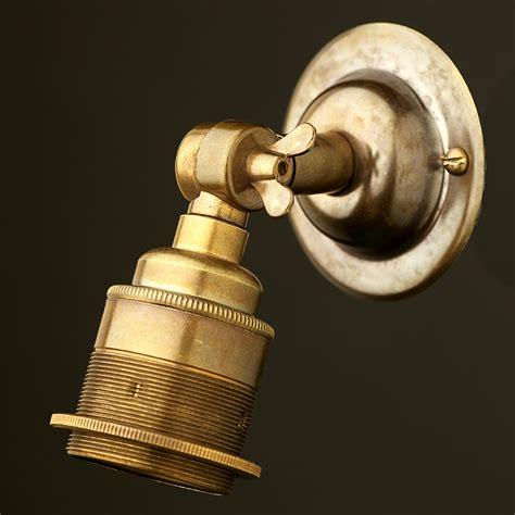 brass wing nut wall mount lholder e27 fitting