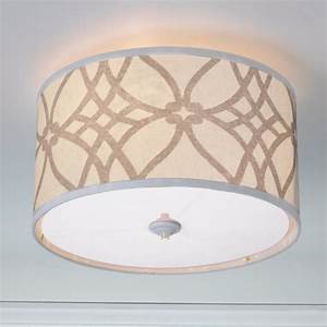 Trellis linen drum shade ceiling light colors lamp shades by of