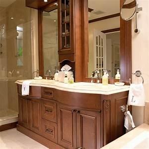 Salle De Bain En Bois : cuisines beauregard salle de bain r alisation 166 ~ Dailycaller-alerts.com Idées de Décoration