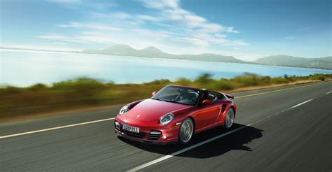 2018 Red Porsche 911 Turbo Cabriolet Wallpapers