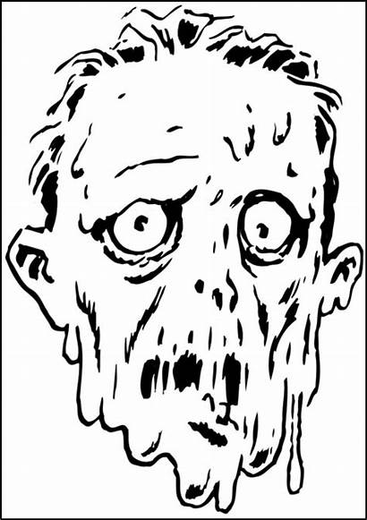 Coloring Pages Creepy Face Halloween Melting Cartoon