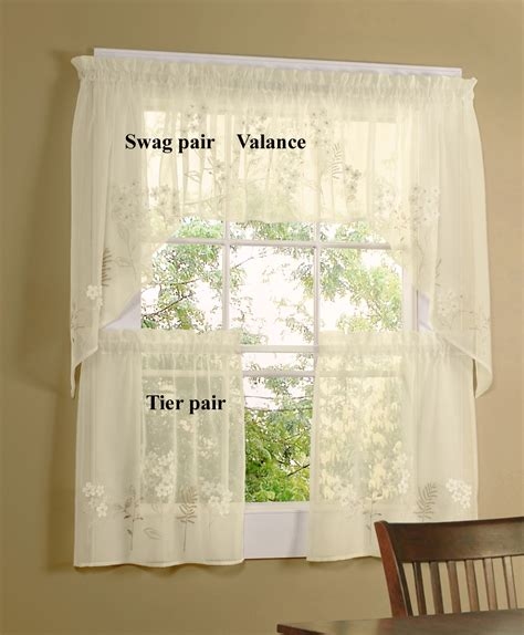 24 Inch Tier Lace Curtains