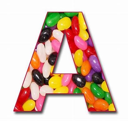 Letter Alphabet Jelly Scrapbook Beans Letters Bean