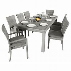 Rst Brands Cannes 9piece Patio Woven Dining Set With