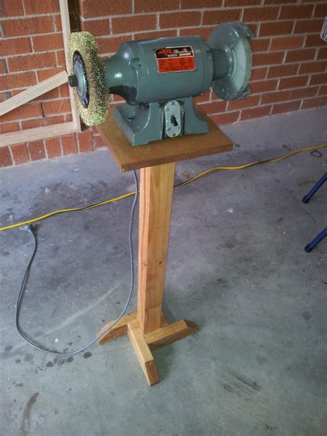 making  bench grinder stand  woodwork geek