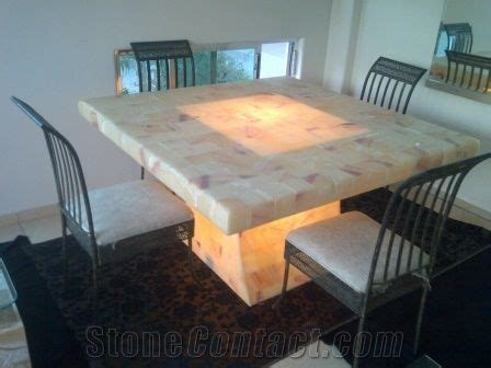 dining room set beige onyx furniture  mexico