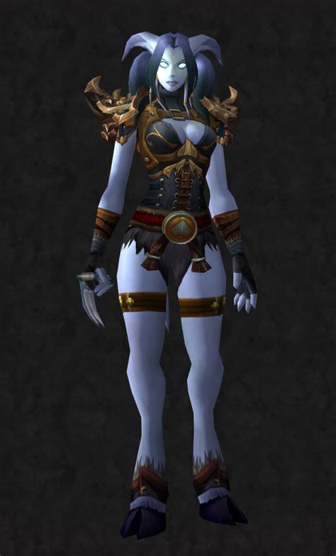 draenei female monk warcraft wow transmog stoicism weapons cool super