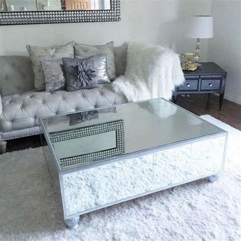 Diy Mirrored Coffee Table For Less Than $200 Diamantes