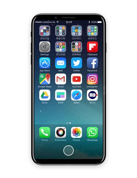 check out new iphone 8 concept with display function area