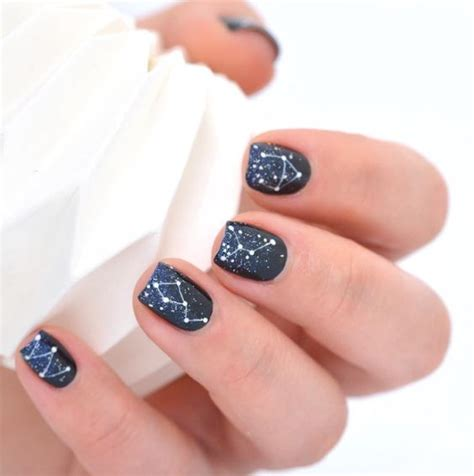 picture  navy  black wedding nails  blue glitter