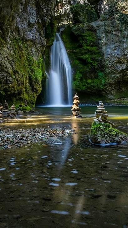 4k Zen Waterfalls Wallpapers Iphone Garden Wallpapersafari