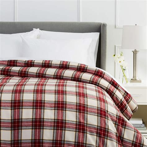 queen flannel duvet cover pinzon 160 gram plaid flannel duvet cover plaid ebay