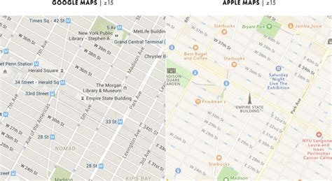 maps vs apple maps key difference business insider