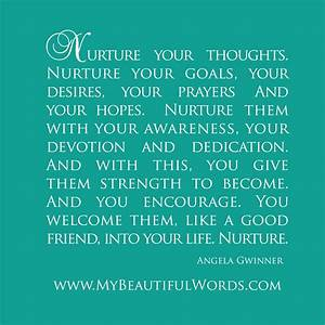 My Beautiful Wo... Nurture Life Quotes