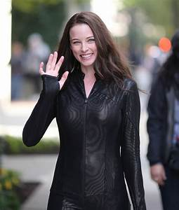 RACHEL NICHOLS on the Set of Continuum in Vancouver ...