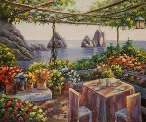 terrazza sul mare quadro terrazza sul mare di autore sconosciuto paesaggi
