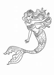 mermaid coloring pages ariel and disney princess With powerful siren