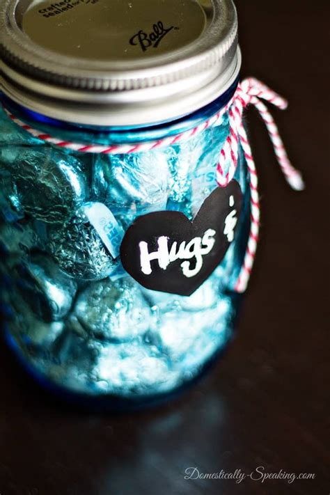 jar gift ideas hugs and kisses mason jar valentines gifts domestically speaking