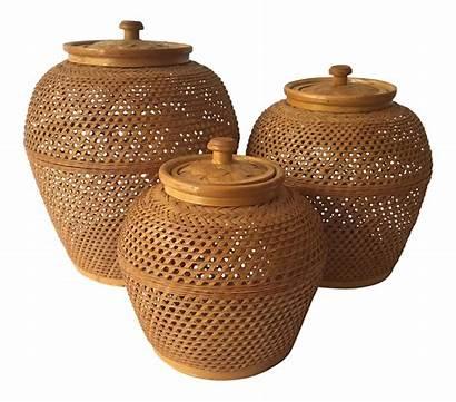Ginger Wicker Jars Lovely Jar Chairish