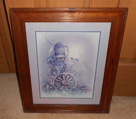 ebay home interior pictures vintage home interior wagon wheel and mailbox framed