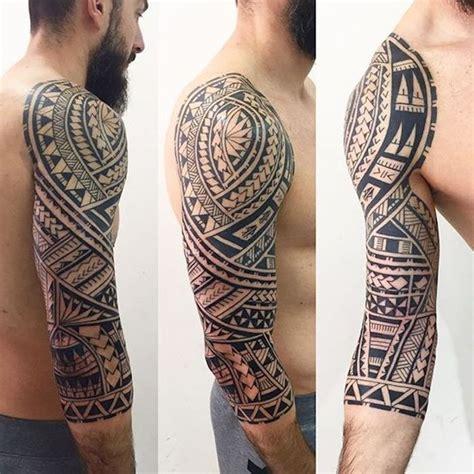 polynesische tattoos unterarm streifen unterarm