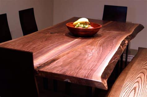 live edge black walnut dining table live edge black walnut harvest table contemporary