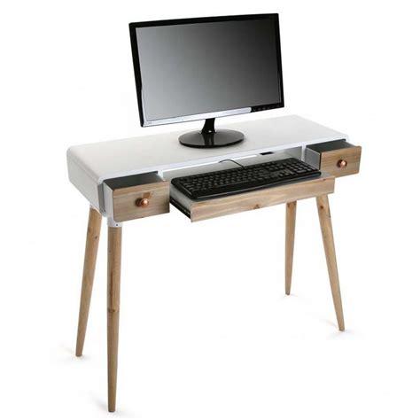 tables bureau table bureau console avec tiroirs design scandinave bois