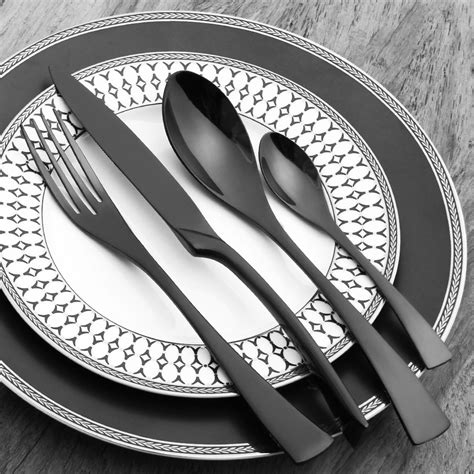cutlery stainless steel silverware dinner sets kitchen forks knives gold matte dinnerware scoops exclusive elegant knife fork lizzly