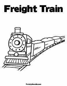 Freight Train Coloring Page from TwistyNoodle.com ...