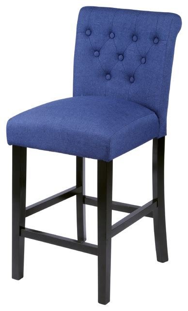 sopri blue counter chairs set of two transitional