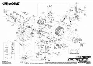 Exploded View  Traxxas Stampede 1 10 Vxl 4wd Tqi Tsm Rtr