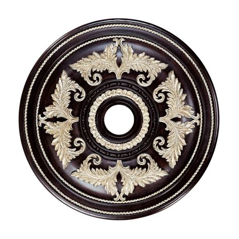 shop livex lighting hand rubbed bronze ceiling medallion