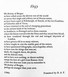 """Elegy"" — Jorge Luis Borges – Biblioklept"
