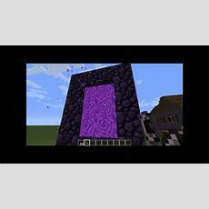 Minecraft Wie Baut Man Ein Portal Nach Nether Youtube