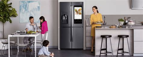 narrow hallway samsung family hub my mission to see the fridge of the