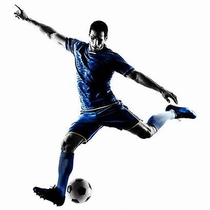Football Player Silhouette Kick Soccer Kicking Playing