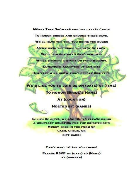trees bridal shower  money trees  pinterest