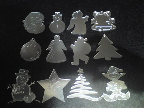 mirrored christmas tree decorations acrylic mirror various