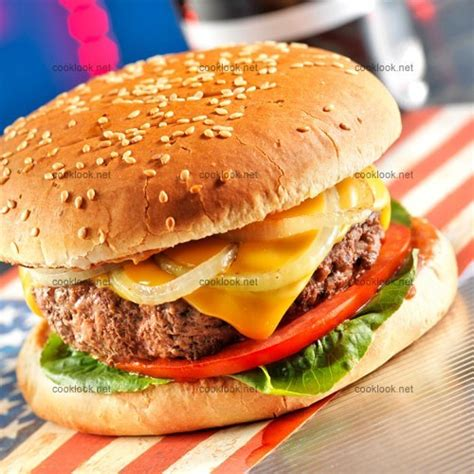 recette cuisine usa photo culinaire hamburger made in usa cooklook photo