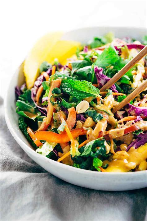 thai salad crunchy thai salad with creamy peanut dressing jessica gavin