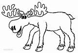 Moose Coloring Pages Cartoon Elk Drawing Printable Baby Clipart Bull Colors Cute Colouring Sheets Cliparts Animal Drawings Clip Prints Cool2bkids sketch template