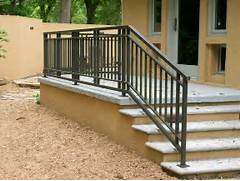 Outdoor Metal Handrails For Stairs by Exterior Railing Metal Fabrication Aluminum Fabrication